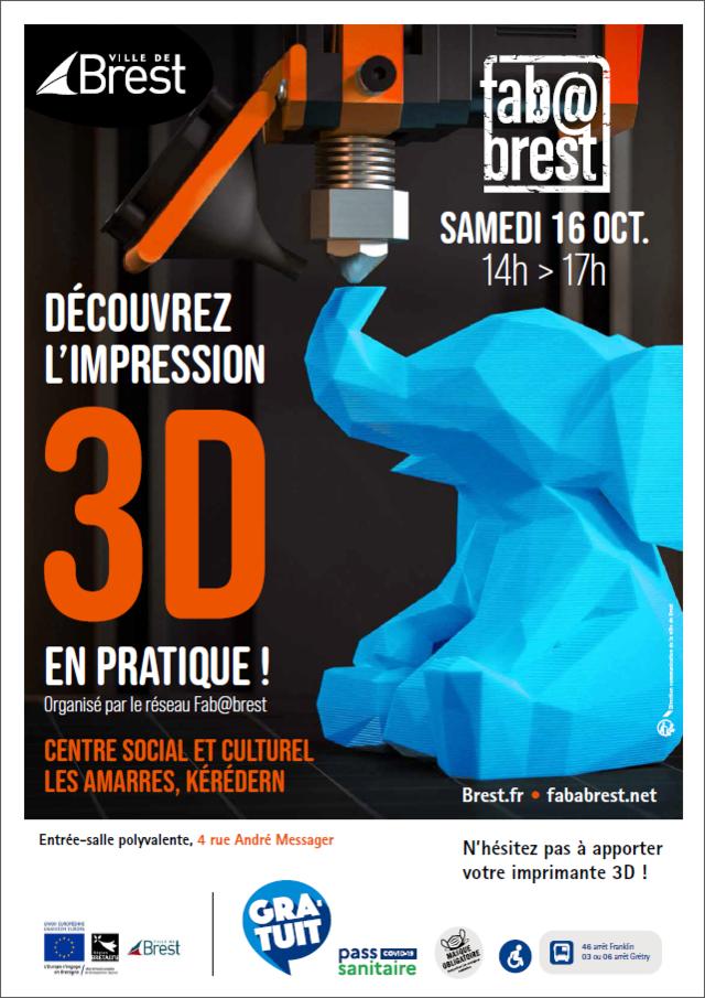Affiche Brest 3D